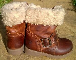 NEXT Size 4 BROWN LEATHER BOOTS