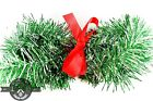 Green Silver and Black Tinsel Garland 25FT Length  Tinsel Brush Garland