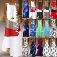 UK Boho Womens Kaftan Shirt Dress Summer Beach Holiday Maxi Long Dress Plus Size