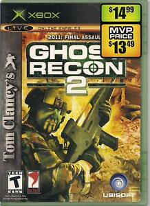 Tom Clancy's Ghost Recon 2 Microsoft Xbox 2004 Game Case and Manual