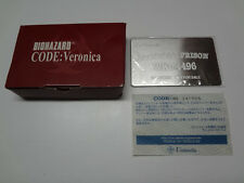 Biohazard Code Veronica Metal Plate Not For Sale Sega Dreamcast Japan NEW /C
