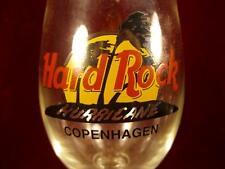 Copenhagen Denmark Hard Rock Cafe Hurricane Glass Drink Yellow Red Black (O2)
