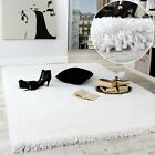 Shaggy Tapis Longues Mèches Super Soft Rio XXL Shaggy Tapis Unicolore En Blanc