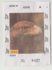 1994 Portugal gum or candy paper wrapper Bacalhau Cobaia #041 - Eagle bird