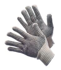 24 PAIRS STANDARD STRING KNIT W PVC DOTS ON BOTH SIDES WORK GLOVE - SIZE: LARGE