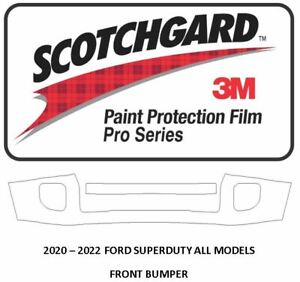 3M Scotchgard PRO Paint Protection 2020 2021 Ford Superduty FRONT BUMPER