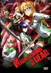 HIGH SCHOOL OF THE DEAD Complete Anime Series Collection 1-12 in English Dub DVD