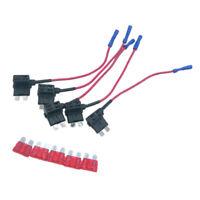 5pcs/set 10A Add A Circuit Mini Blade Fuse Boxe Holder   Tap