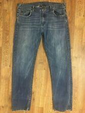 Armani Exchange Women's Med Wash Distressed Straight Leg Jeans Sz 34