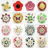 Flower Ceramic Door Knobs Drawer Pulls Cupboard Door Knobs Porcelain Handles UK
