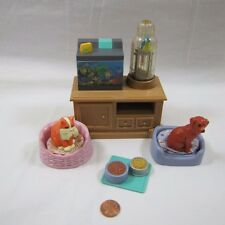 FISHER PRICE Loving Family Dollhouse PET SET CAT DOG PARROT Sounds & Lights!