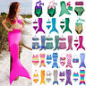 Kids Girls Mermaid Tail Swimwear Swimmable Bathing Bikini Set Swimming Costume