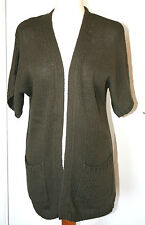Laura Ashley Weekend UK10 EU38 new olive cardigan - non fasten & front pockets