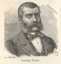 A6900 Pietro Fanfani - Stampa Antica del 1926 - Xilografia