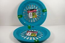9 Inch Paper Plate Holder Teal Picnic Camping RVs BBQ Patio Set of 8 FREE SHIP