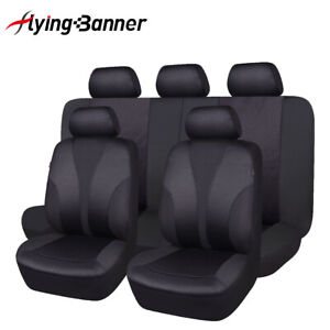 Stamp Fabric Car Seat Covers Universal Set Split 40/60 50/50 Airbag Compatible