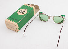 Vintage MSA Safety Goggle Glasses Green Tint w/Box NEVER Used Pristine Cond(G3L)