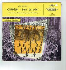 33T 25cm COPPELIA Disque SUITE BALLET Leo DELIBES Classique DEUTSCHE GRAMMOPHON