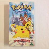 Pokemon: Volume 11 - The Great Race (Brand New Sealed). VHS Video Tape UK