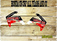 HONDA CR CRF 85 125 150 250 450 rad Scoops Graphics Sticker Decals MX-RED OIL