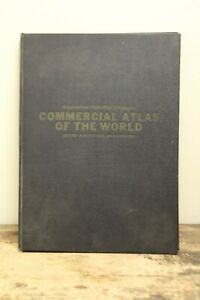 Vintage 1939 Commercial Atlas of the World US and Possessions EXCELLENT