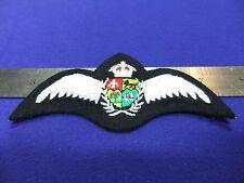 vtg badge raf pilot wings padded brevet saaf south africa cloth patch air force