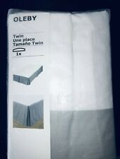 Ikea OLEBY Bed Skirt Sheet Twin-Size Bed Gray 602.241.20 - NEW in Package