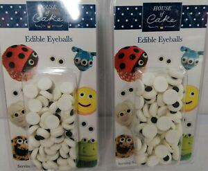 HOUSE OF CAKES Edible Eyeballs  50x edible eyeballs KIDS BAKING CAKE DECORATION