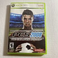 Pro Evolution Soccer 2008 Microsoft Xbox 360 Complete Video Game Free Shipping