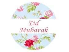 35 Eid Mubarak Stickers Muslim Islam Blue (664) Decorations Celebrations Sticker