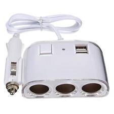 MULTIPRESA SDOPPIATORE PRESA ACCENDISIGARI 12V 24V CON 2 USB AUTO MOLTIPLICATORE