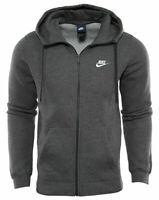 NIKE Big & Tall $55 Men's Club Full-Zip Fleece Training HOODIE 804389-071 Gray