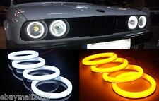 Dual Color WH&YE Cotton SMD LED Halo Rings For E30 E32 E34 Demon Angel Eyes DRL