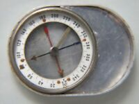 Vintage French Hand Compass in Aluminium  Box Working Retro 1950's