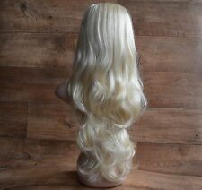 Stunning Layers Light Blonde Long Curly 3/4 Wig Hairpiece Half Wig 073