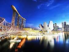 Cityscape Marina Bay Sands Singapore photo art print poster foto bmp510a