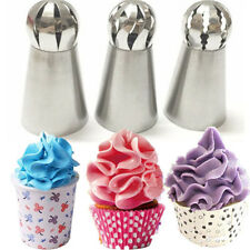 3pcs Sphere Ball Russian Icing Piping Nozzles Tips Cake Decor Pastry Cupcake TOP