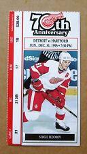 Red Wings Sergei Fedorov Wings Game ticket stub Dec 31, 1995 $28.00 face value