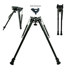 "13"" to 23"" Long Adjustable Spring Return Sniper Hunting Rifle Bipod + Adapter"