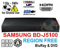 Samsung BD-J5100 Zone A All Region Free Blu-Ray DVD Disc Player NEW
