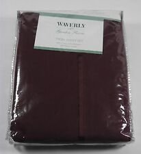 NEW WAVERLY GARDEN ROOM RAISEN 3PC TWIN SHEET SET 250 THREAD COUNT USA (2003)