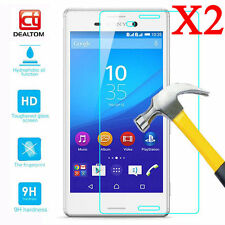2PCS 9H Premium Tempered Glass Screen Film Protector For Sony Xperia Phone