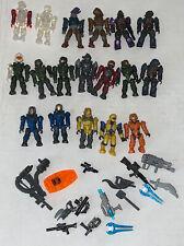 Lot 34 HALO Mega Bloks Construx Lot Mini Figures Camo translucent Smoke weapons