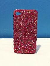 bedazzled sparkly pink rhinestone apple iphone 4s case