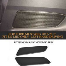 Carbon Rear Door Seat Moulding Trim Inside Decorator For Ford Mustang 15-17