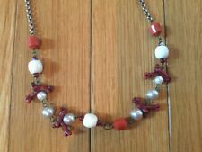 New Sabika Red Coral Reef Necklace Chain Choker Retired Rare Piece