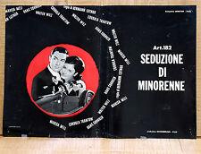 ART. 182 SEDUZIONE DI MINORENNE fotobusta poster affiche Hermann Leitngr AE6