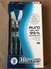 Harrows Aura 26g Steel Tip Darts 95 Tungsten 52637 W/