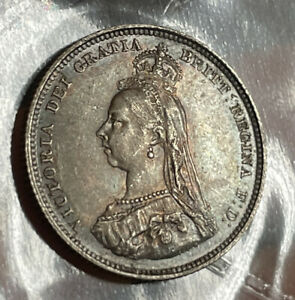 Victoria 1887 Shilling UNC