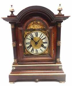 Antique German Mahogany 8-Day Mantel Clock Ting Tang Striking Bracket HAC 19th